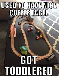 Funny Coffee Tables - my coffee table got toddlered giantgag