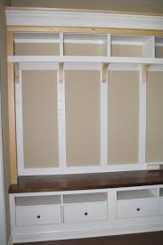 our mudroom storage unit is finished y u0027all minus the hooks and