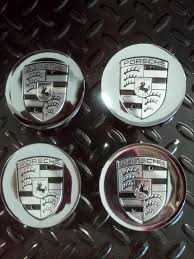 chrome porsche new porsche chrome u0026 black wheel center caps set of 4 rennlist