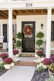house porch plum and red mums fall porch home stories a to z