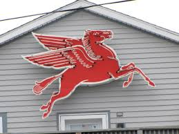 photo gallery cichy s garage automotive and hybrid repair original pegasus sign from the cichy s garage building in 1964 now resides on the side of the apartment above cichy s