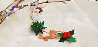 Easy Decoration For Christmas by Easy Felt Craft U2013 How To Make A Felt Hanging Decoration For