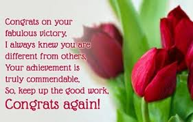 congratulations on achievement congratulations on your success