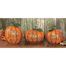 carved thanksgiving pumpkin set decorative