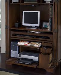 Solid Wood Computer Armoire by Computer Armoire Desk Home Office Amish Deluxe Computer Armoire
