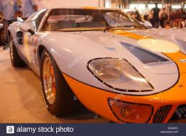 gulf racing ford gt40 racing car gulf oil colours of light blue and orange