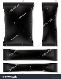 black blank foil packaging sachet coffee stock vector 451054882