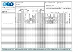get a free racking inspection checklist sema approved racking