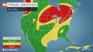 us weather map monday us post travel may cause delays from maine to