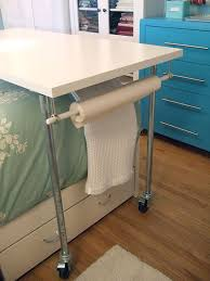 Scrapbooking Tables Desks Clever Rolling Table For Craft Room Office Guest Bedroom This