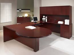 Office Desk Large Office Desk Awesome White Brown Wood Glass Unique Design Office