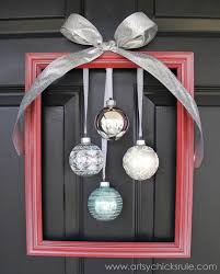 diy framed ornament wreath welcome home tour artsy