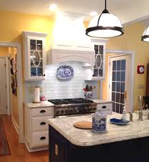 interior kitchen backsplash blue subway tile regarding stunning