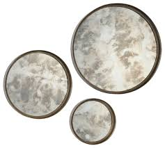 Mirror Sets For Walls Shire Mirrors Set Of 3 Rustic Wall Mirrors By Renwil