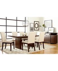 6 Chair Dining Room Table by Bari White 7 Pc Dining Set Table U0026 6 Chairs Furniture Macy U0027s
