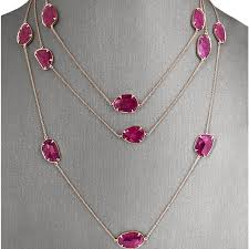 pink ruby necklace images Rose gold long ruby slice necklace ruby necklaces fine jewelry jpg