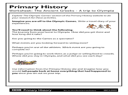 Greek Myths Worksheets Ancient Greeks A Trip To Olympia 6th Grade Worksheet Lesson Planet