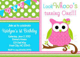 owl birthday invitation pink and green owl birthday party