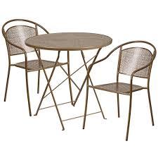 Folding Patio Furniture Set by Flash Furniture 30 U0027 U0027 Round Indoor Outdoor Steel Folding Patio