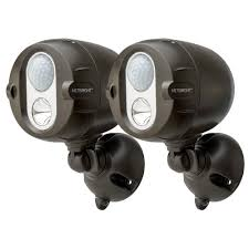 wireless led outdoor lights mr beams networked wireless motion sensing outdoor led spot light