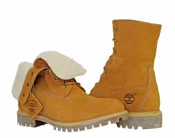 timberland fold down roll top lined waterproof wheat men u0027s boots