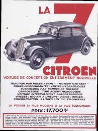 citroën traction avant affiche publicitaire du lancement de la 7