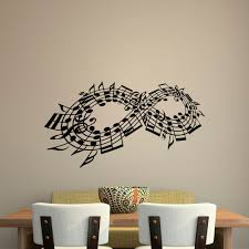 wall decal music note decals music stuff infinity symbol wall zoom
