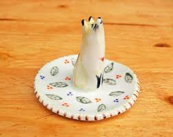 porcelain animal ring holder images Jewelry holder etsy jpg