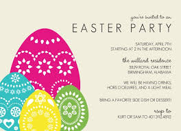 easter party invitation templates u2013 happy easter 2017