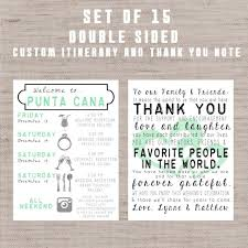 destination wedding itinerary template destination wedding welcome bag letters and guest itinerary