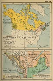 North America Map by Of British North America 1840 1867