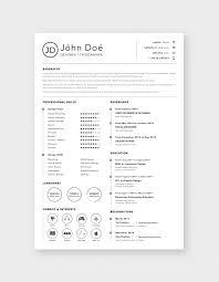 Resume Design Template Free Simple Clean Resume Cv Design Template Sketch File Good