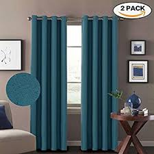 Turquoise And Brown Curtains Turquoize Solid Blackout Drapes Teal Blue Turquoise