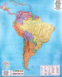 Map Of South Wall Map Of South America Political And Physical Freytag