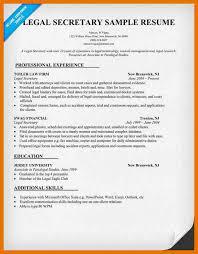Legal Secretary Duties Resume 11 Legal Secretary Resume Template Bibliography Apa