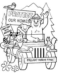 front head smokey bear coloring pages 30523 bestofcoloring