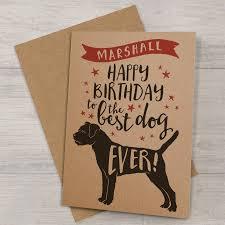 personalised u0027best dog u0027 birthday card by well bred design