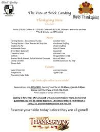 thanksgiving dinner at the view at brick landing isle