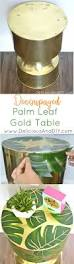 Gold Table Centerpieces by Decoupaged Palm Leaf Gold Table Delicious And Diy