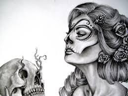 skull drawing a beautiful sugar skull costume diy flower