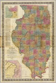 Map Of Illinois State by New Sectional Map Of The State Of Illinois David Rumsey