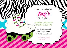 Customized Invitation Cards Free Free Printable Roller Skating Invitations Cloudinvitation Com