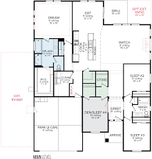 Floorplan Com cbh homes pasadena 2351 floor plan
