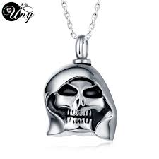 ashes pendant uny trendy stainless steel skull pet urn ashes pendant perfume
