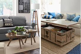 Living Rooms Without Coffee Tables 4 Unconventional Coffee Table Ideas Pottery Barn
