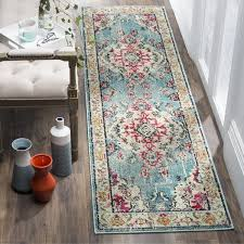 Pink Runner Rug Safavieh Monaco Bohemian Medallion Blue Pink Distressed Runner