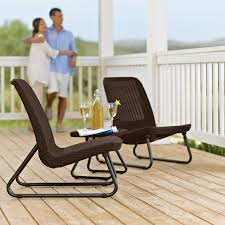 Outdoor Furniture Set Keter Rio 3 Piece Patio Set Hayneedle