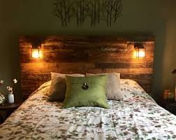 Headboards Made With Pallets Pallet Headboard Etsy