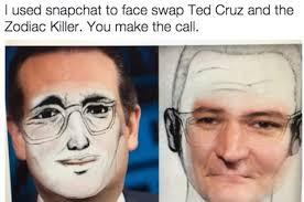 Ted Cruz Memes - face swap ted cruz zodiac killer know your meme