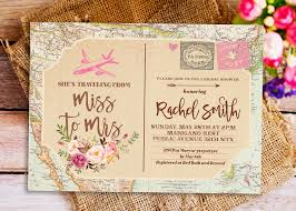 travel themed bridal shower traveling from miss to mrs invitation miss to mrs bridal